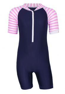 JUJA---UV-Swim-suit-for-babies---short-sleeves---Stripes---Darkblue