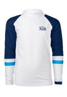 JUJA---UV-Swim-shirt-for-boys---longsleeve---Colorblock---White