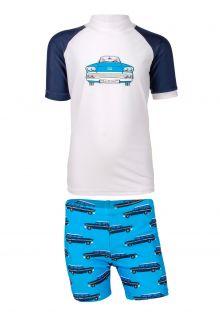 JUJA---UV-Swim-set-for-boys---Oldtimer---White/Blue