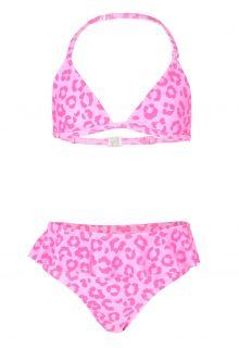 JUJA---Bikini-for-girls---Leopard-Ruches---Pink