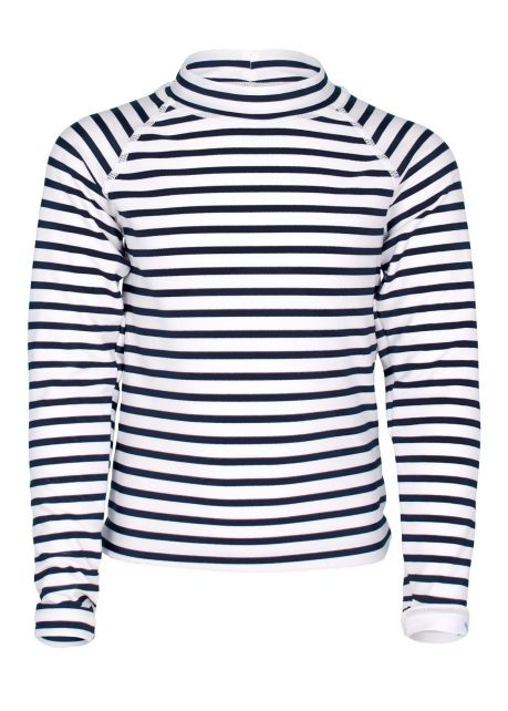 JUJA---UV-Swim-shirt-for-girls---longsleeve---Sailor---White/Blue