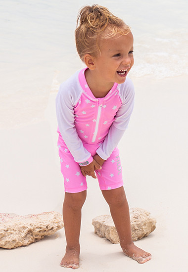Recycled uv swimwear made from PET bottles for babies